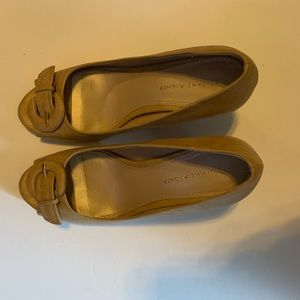 Etienne Aigner Tan OpenToe Heels -Great Condition!